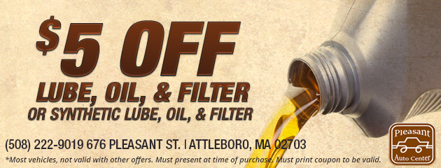 $5 Off Lube, Oil & Filter
