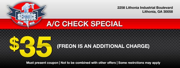 A/C Check Special