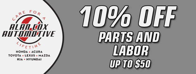 10% Off Parts and Labor