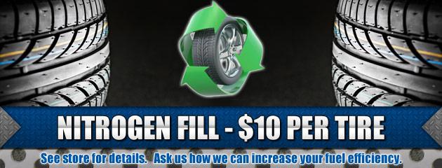 Nitrogen Fill $10 per Tire
