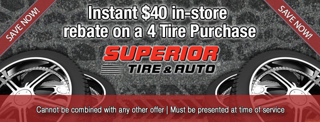 Instant $40 Rebate with w/ 4 Tires