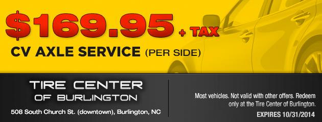 $169.95 CV Axle Service
