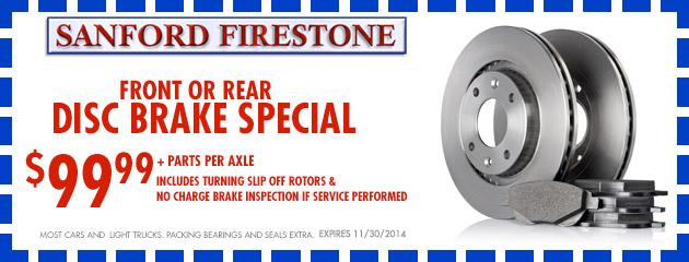 $99.99 Disc Brake Special