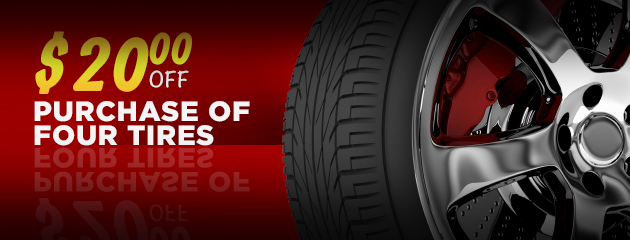$20 Off Purchase of 4 Tires