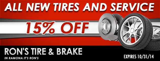 15% Off Tires And Service