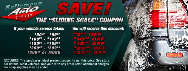 Sliding Scale Discounts