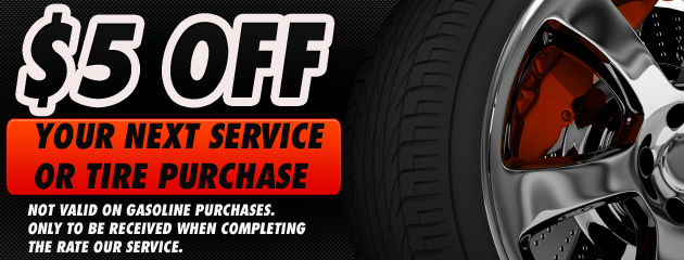 $5 off next service or tire