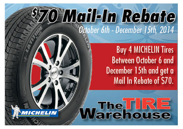 Michelin $70 Rebate TW
