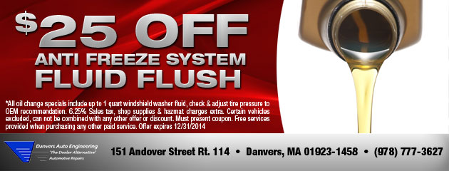 Anti Freeze Fluid Flush