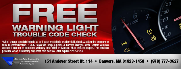 Free Warning Light Trouble Code Check