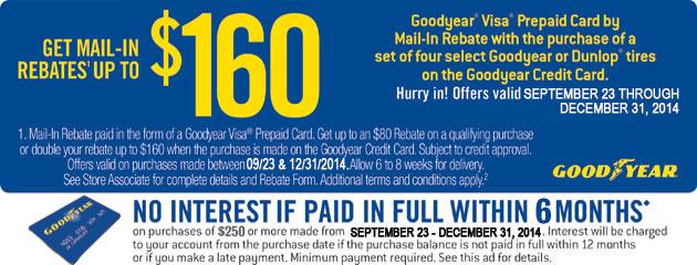 Goodyear up to $160 Rebate Trombley