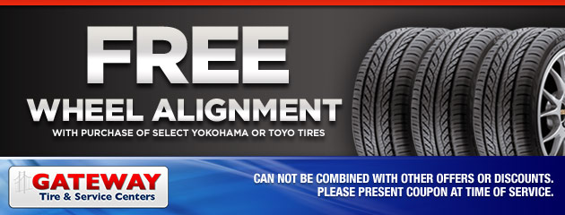 Free Wheel Alignment with purchase of select tires
