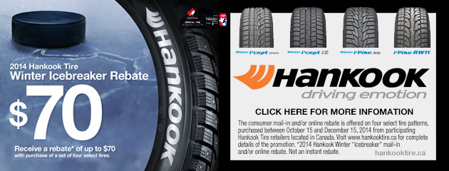 Hankook up to $70 Rebate Canada