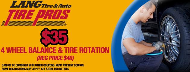 4 Wheel Balance and Tire Rotate