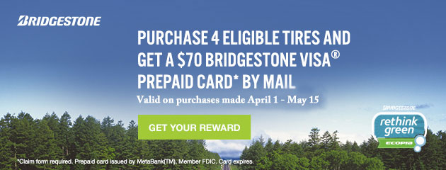 Bridgestone $70 Prepaid Card