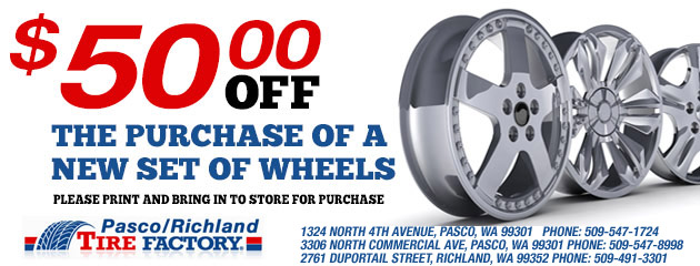 $50.00 Off New Set Of Wheels
