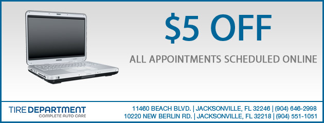 $5 off Appointment Scheduled Onlie