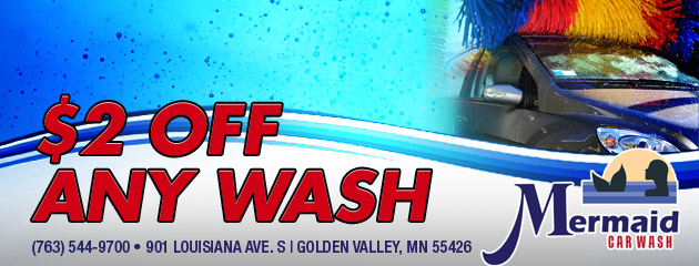 $2 off Any Wash