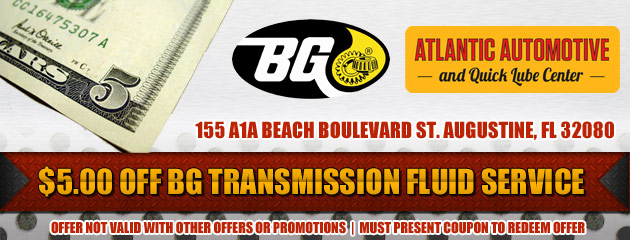$5 Off BG Transmission Flush