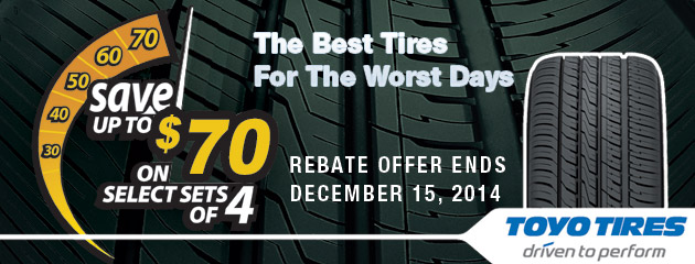 Toyo Up to $70 Rebate Canada