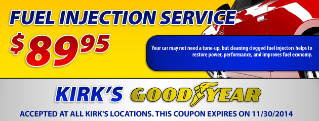 $89.95 Fuel Injection Service