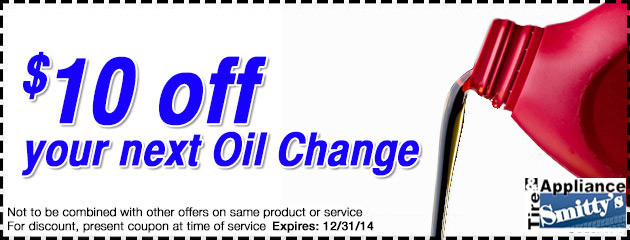 $10 OFF Your Next Oil Change