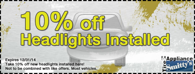 10% Off Headlights Installed