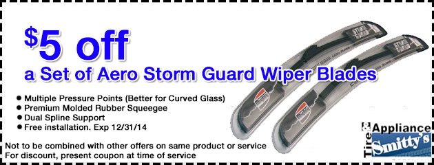 $5 OFF New Wiper Blades