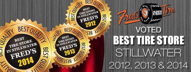 Voted Best Tire Store in Stillwater
