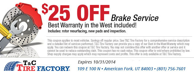 $25 Off Brake Service