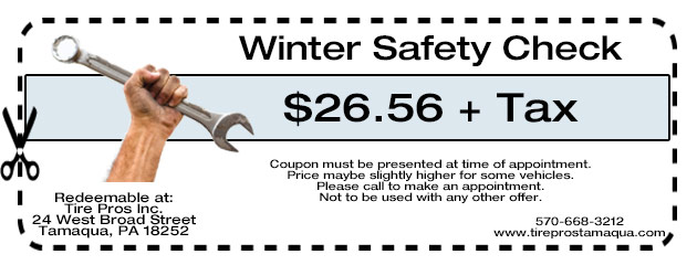 Winter Safety Check $26.56 + Tax