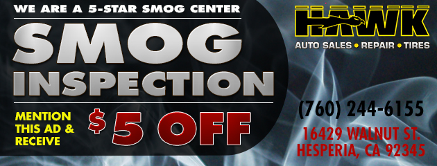 $5 Off Smog Inspection
