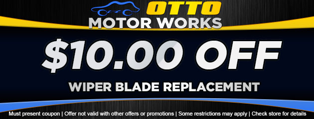 $10 off wiper blade replacement