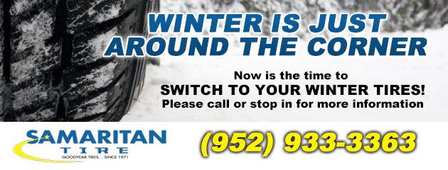 Winter is just around the corner, now is the time to switch to your winter tires!