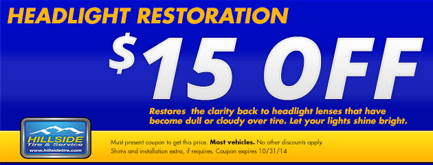 Headlight restoration $15 off