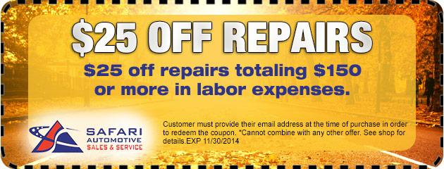 $25 Of Repairs
