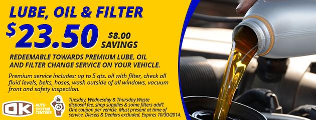 Lube, Oil & Filter