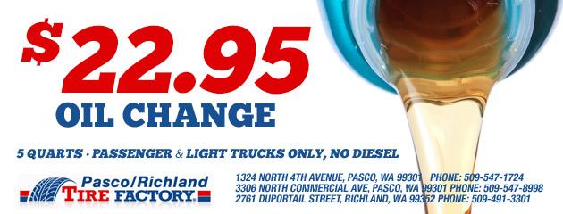 $22.95 Oil Change