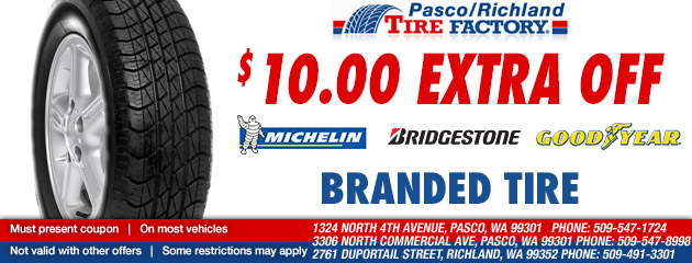 $10 Extra Off Michelin, Bridgeston, or Goodyear Tires