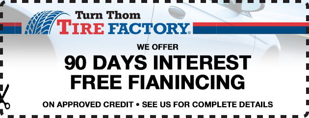 90 Day Interest Free Financing