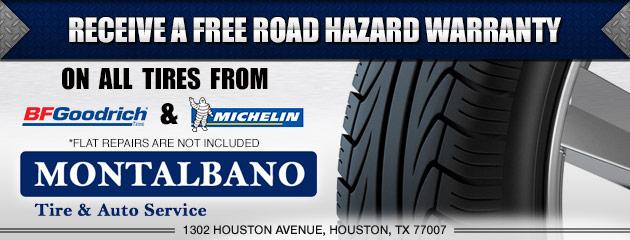 Free Road Hazard On BFGoodrich & Michelin