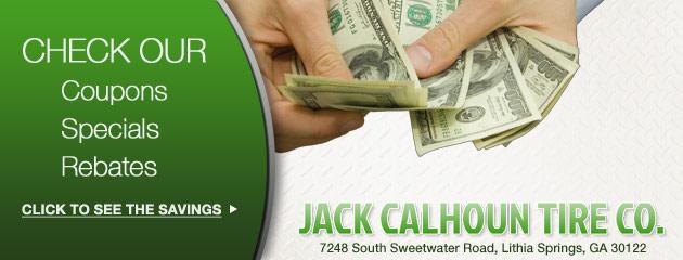 Jack Calhoun Tire Co. Savings