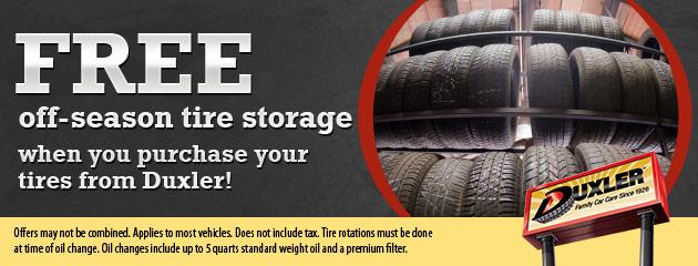 Free Off-Season Tire Storage