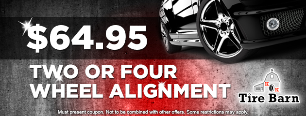 $64.95 Two or Four Wheel Alignment