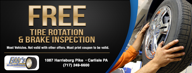 Free Tire Rotation and Brake Inspection