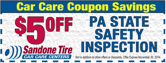 $5.00 Off PA State Safety Inspection