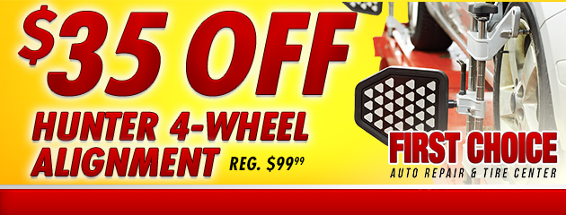 $35 Off Hunter 4 Wheel Alignment