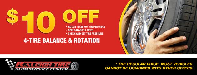 $10 off 4-Tire Balance & Rotation