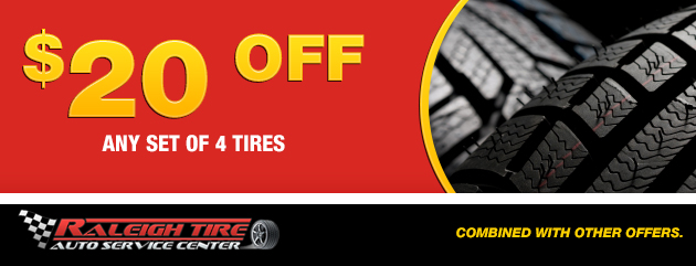 $20 off 4 set of Tires