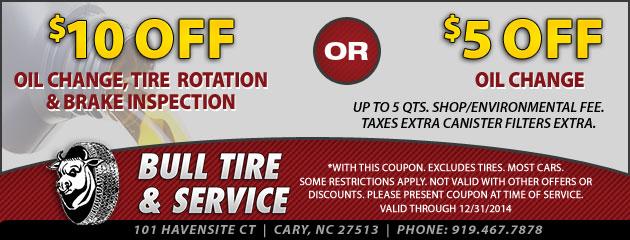 Oil Change, Rotation, Brake Inspection
